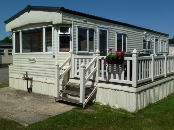 Private static caravan rental image from Hoburne Bashley Park, Lymington, Hampshire