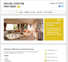 Personalised caravan hire website image